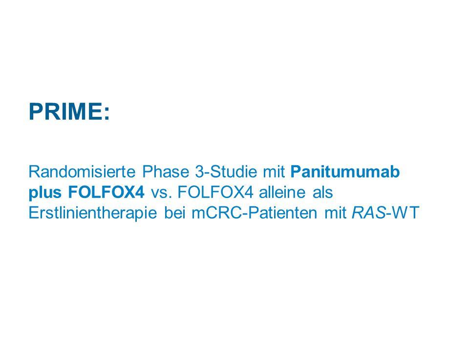 PRIME: Randomisierte Phase 3-Studie mit Panitumumab plus FOLFOX4 vs.