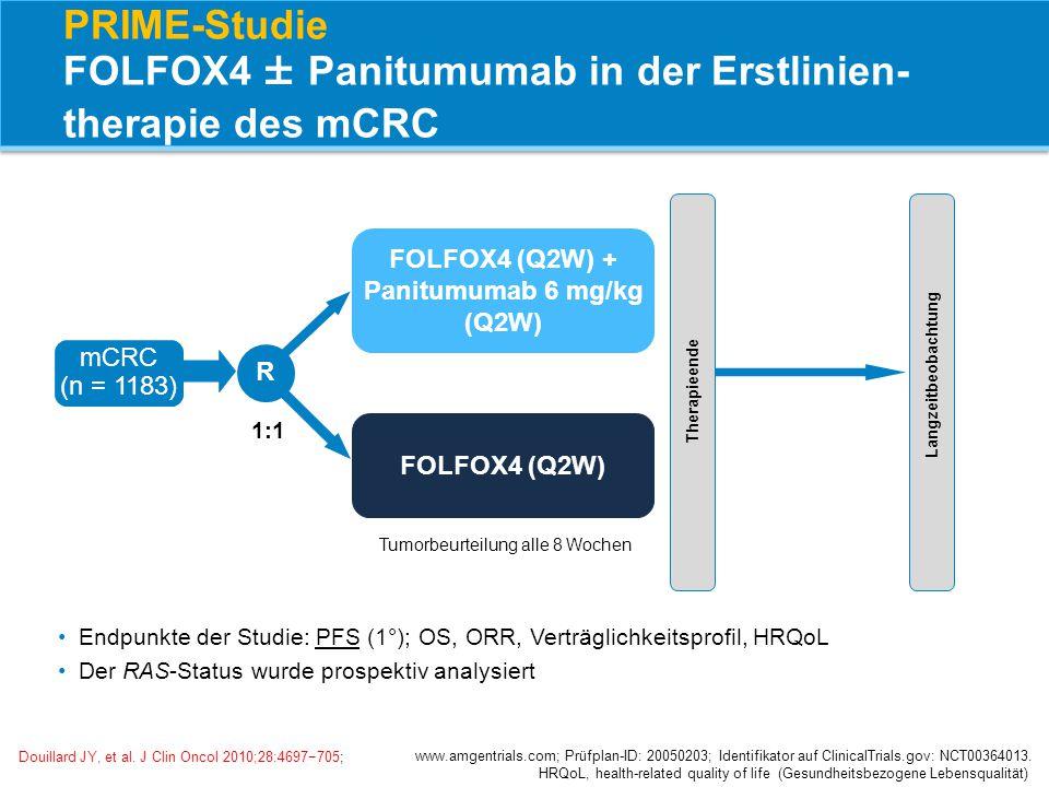 PRIME-Studie FOLFOX4 ± Panitumumab in der Erstlinien-therapie des mCRC