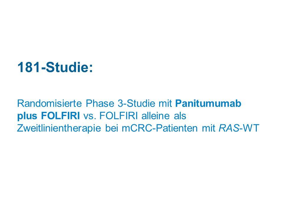 181-Studie: Randomisierte Phase 3-Studie mit Panitumumab plus FOLFIRI vs.
