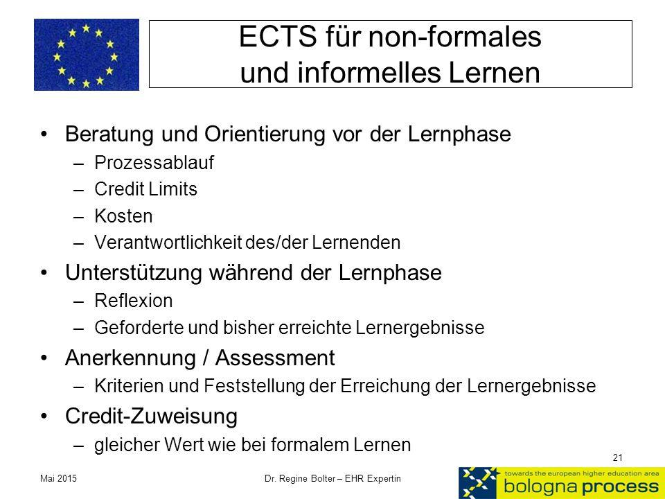 ECTS für non-formales und informelles Lernen