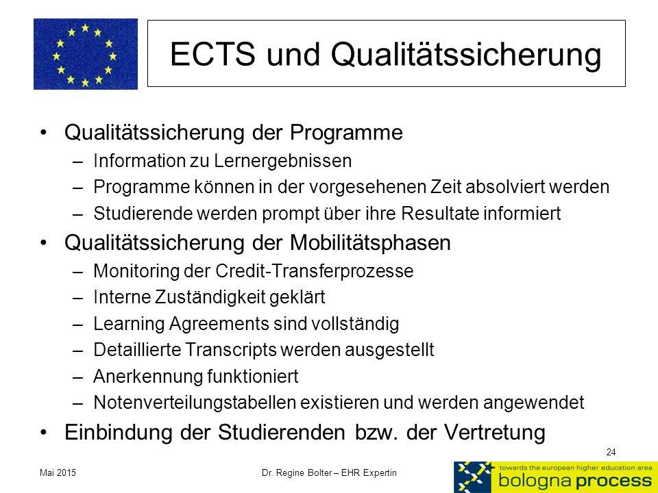 ECTS und Qualitätssicherung