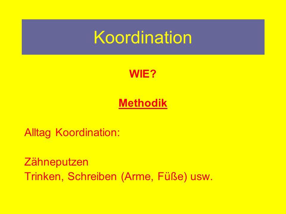 Koordination WIE Methodik Alltag Koordination: Zähneputzen