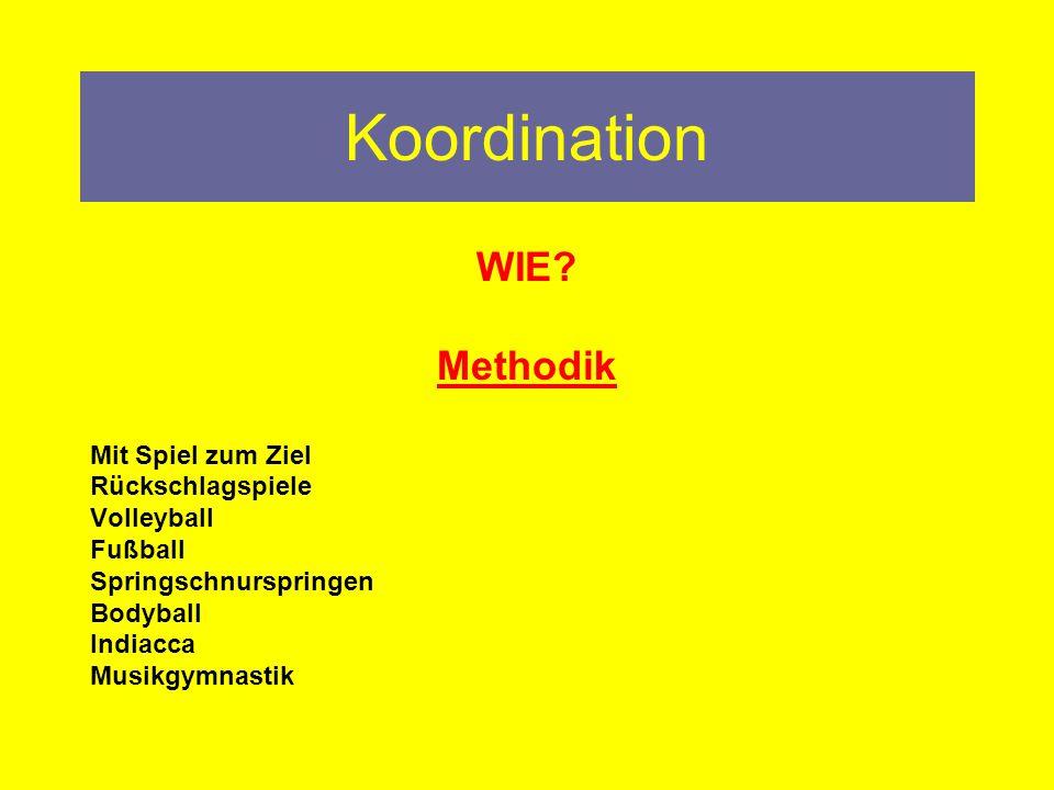 Koordination WIE Methodik Mit Spiel zum Ziel Rückschlagspiele