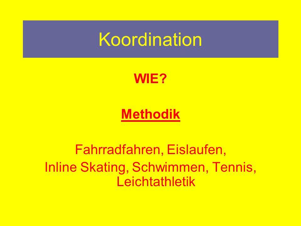 Koordination WIE Methodik Fahrradfahren, Eislaufen,