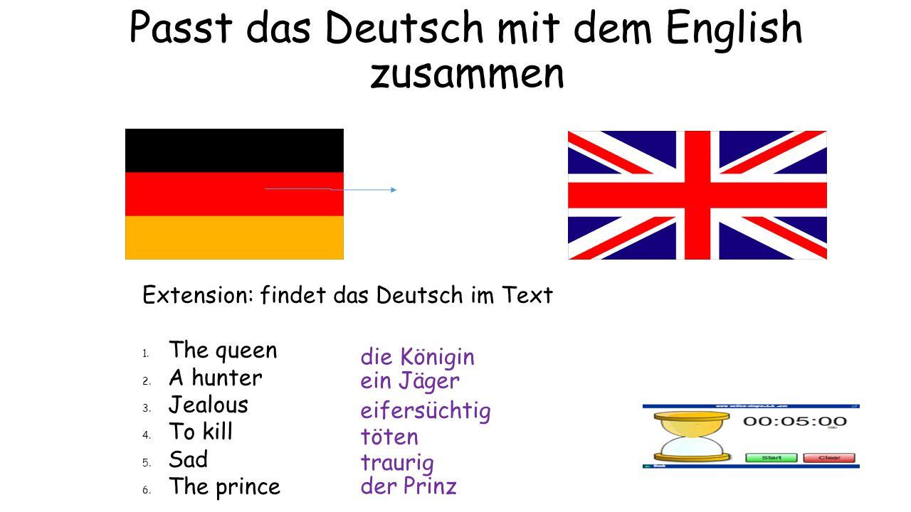 Passt das Deutsch mit dem English zusammen