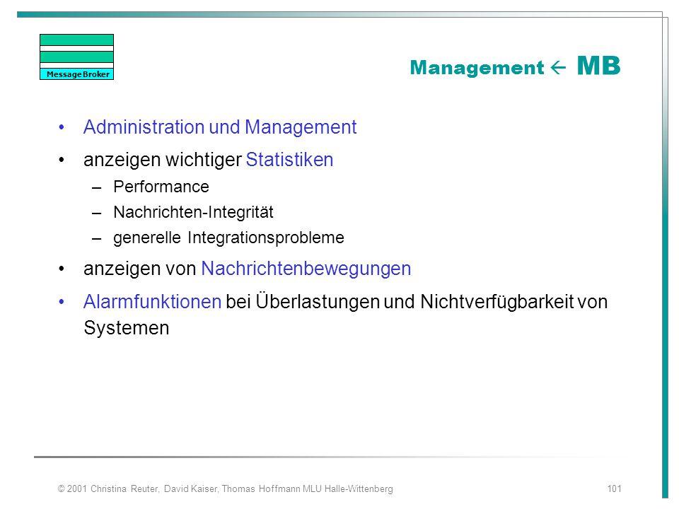 Administration und Management anzeigen wichtiger Statistiken