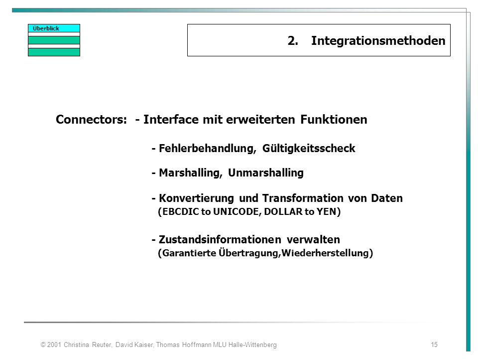 2. Integrationsmethoden