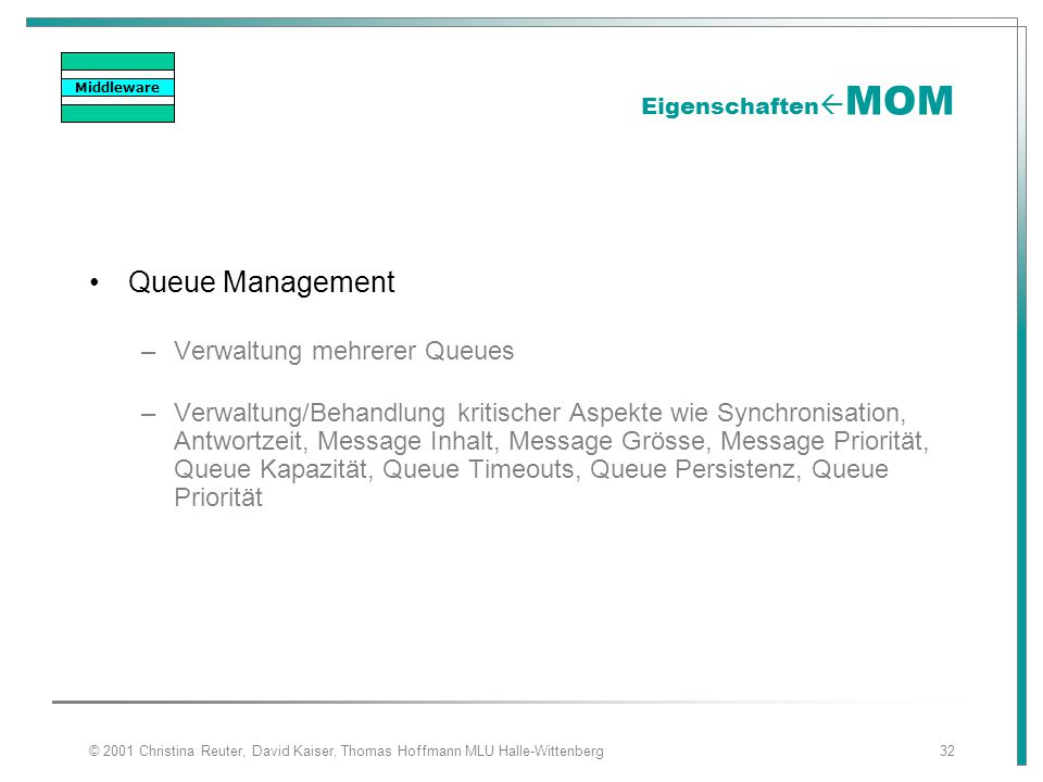 Queue Management Verwaltung mehrerer Queues