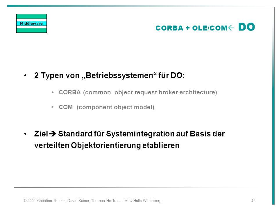 """2 Typen von """"Betriebssystemen für DO:"""