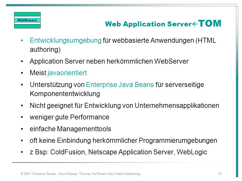 Web Application ServerTOM