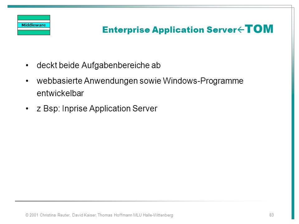 Enterprise Application ServerTOM