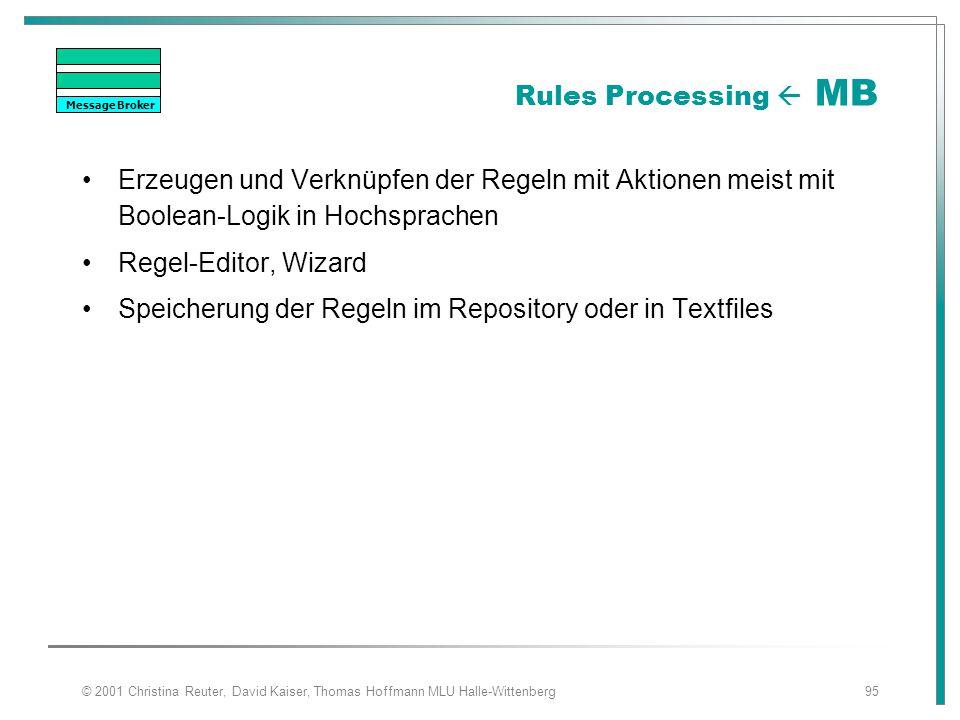 Speicherung der Regeln im Repository oder in Textfiles