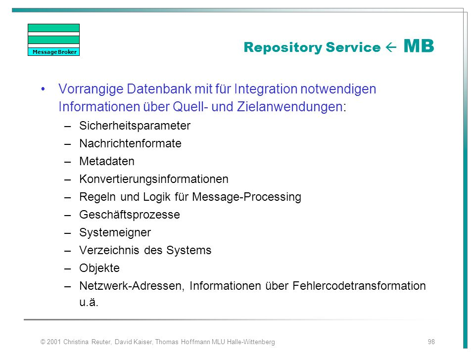 Repository Service  MB