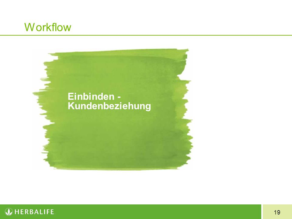 Workflow Einbinden - Kundenbeziehung 19