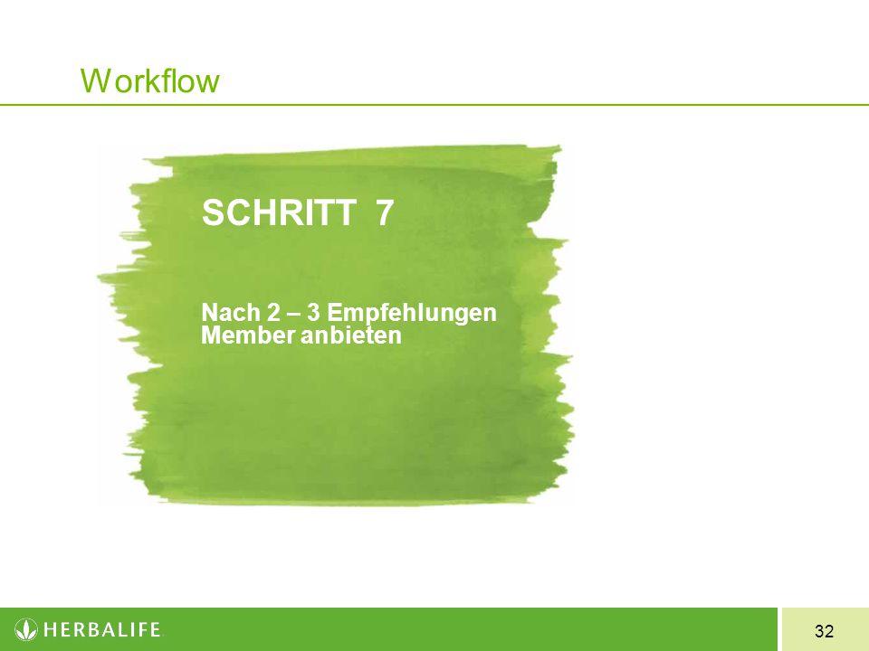 SCHRITT 7 Nach 2 – 3 Empfehlungen Member anbieten