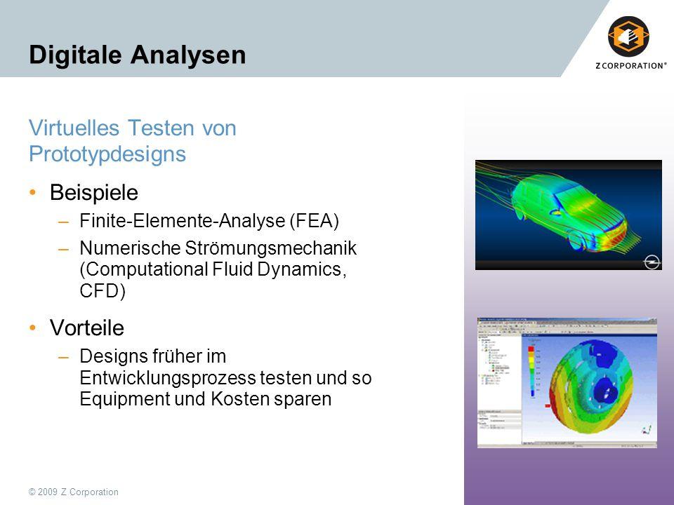 Digitale Analysen Virtuelles Testen von Prototypdesigns Beispiele