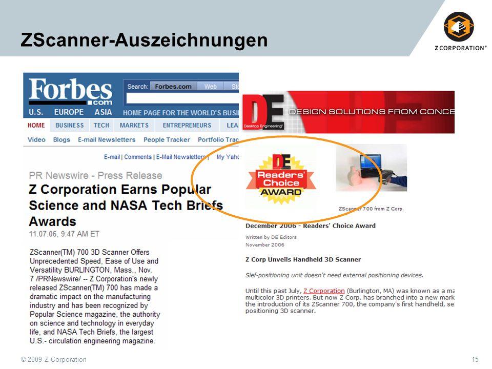 ZScanner-Auszeichnungen