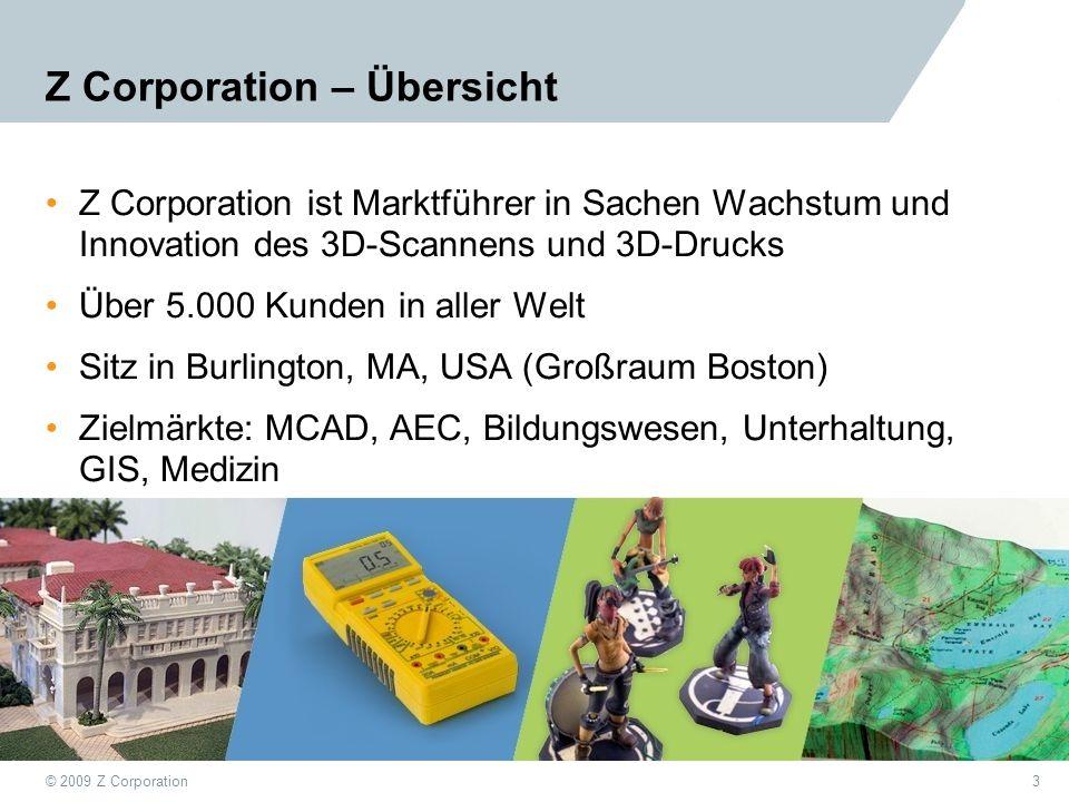 Z Corporation – Übersicht