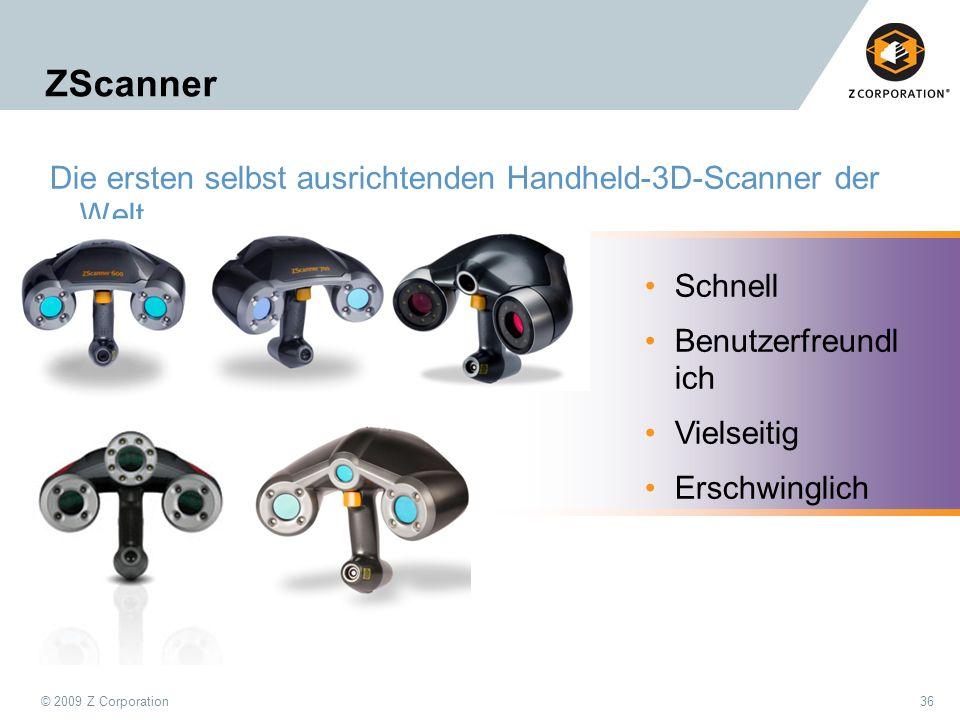 ZScanner Die ersten selbst ausrichtenden Handheld-3D-Scanner der Welt