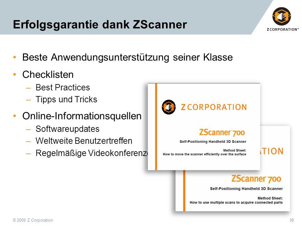 Erfolgsgarantie dank ZScanner
