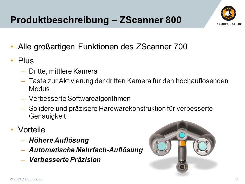 Produktbeschreibung – ZScanner 800