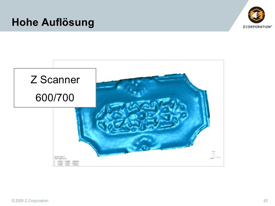 Hohe Auflösung Z Scanner 600/700