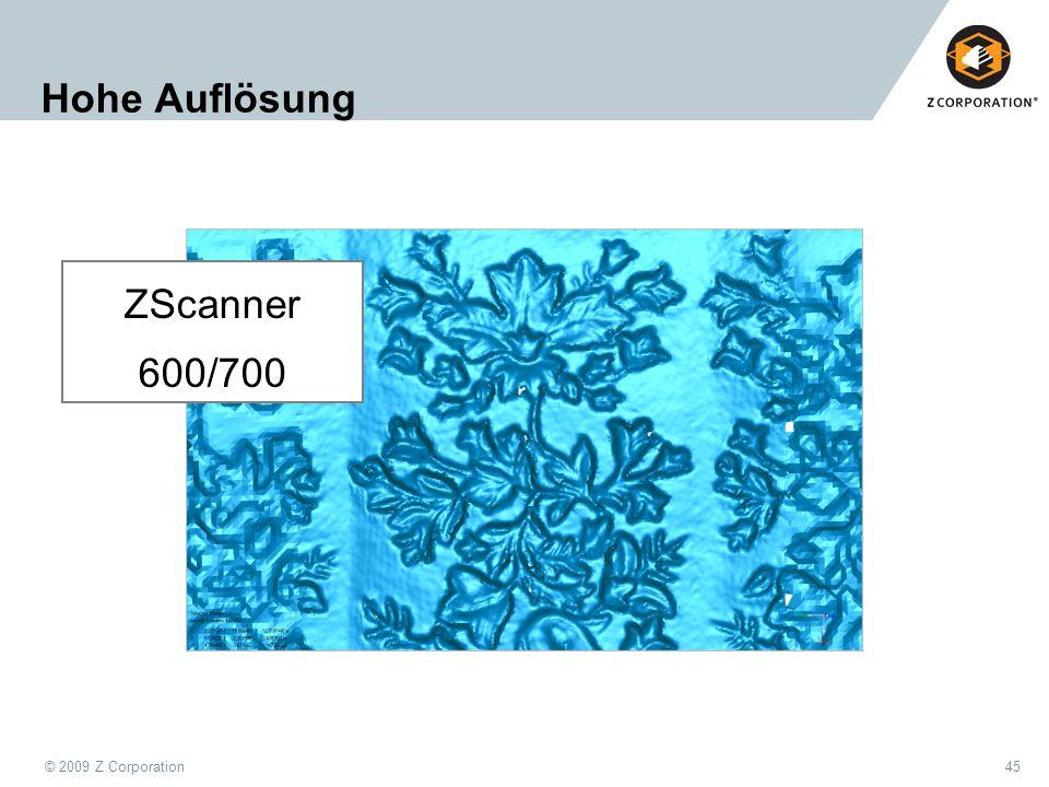 Hohe Auflösung ZScanner 600/700