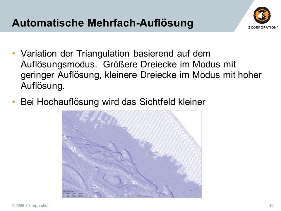 Automatische Mehrfach-Auflösung