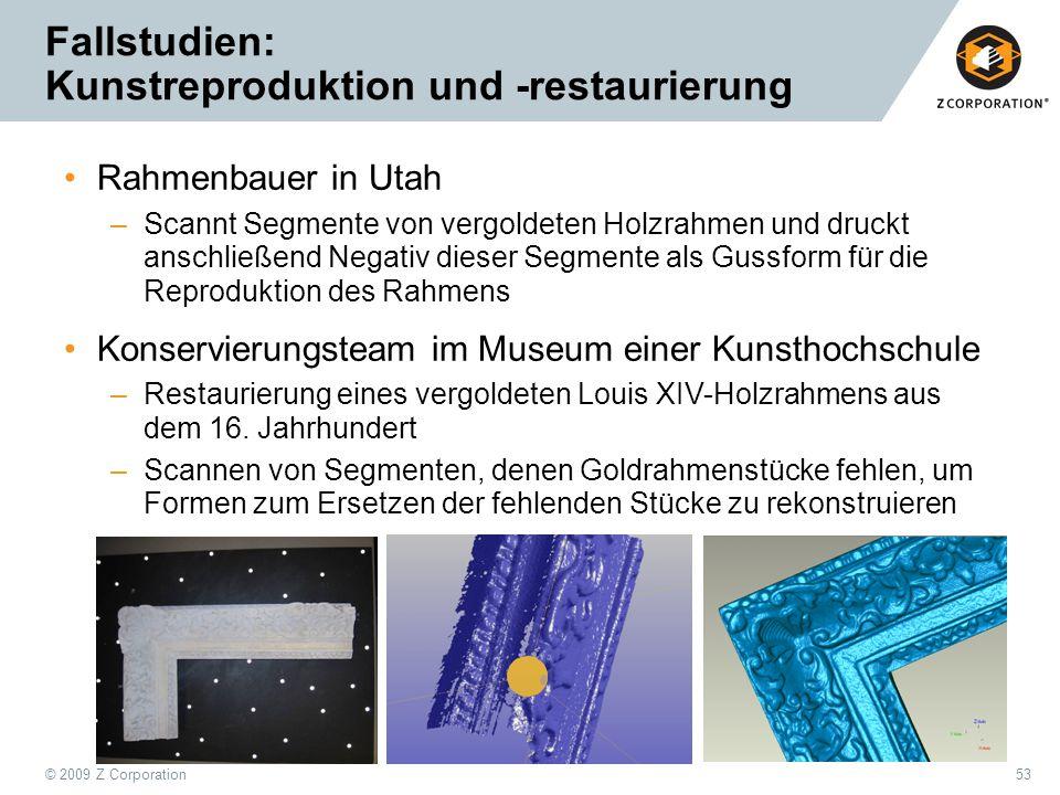 Fallstudien: Kunstreproduktion und -restaurierung