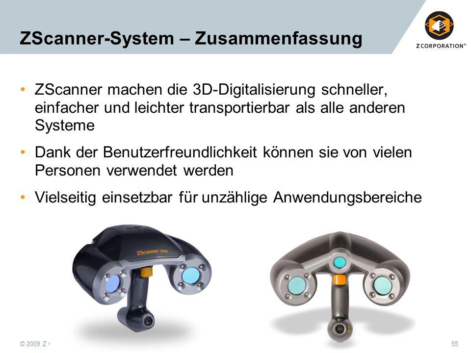 ZScanner-System – Zusammenfassung