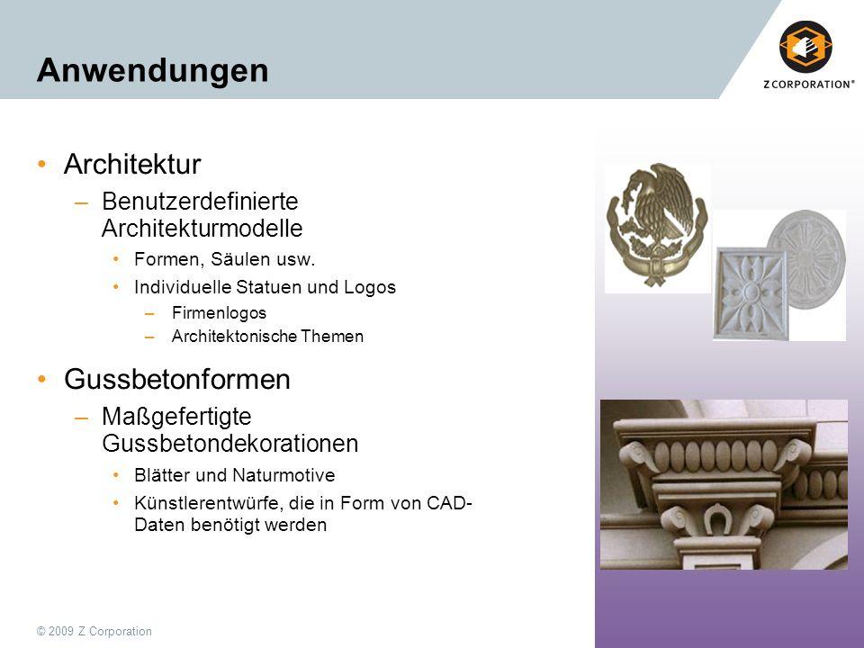 Anwendungen Architektur Gussbetonformen