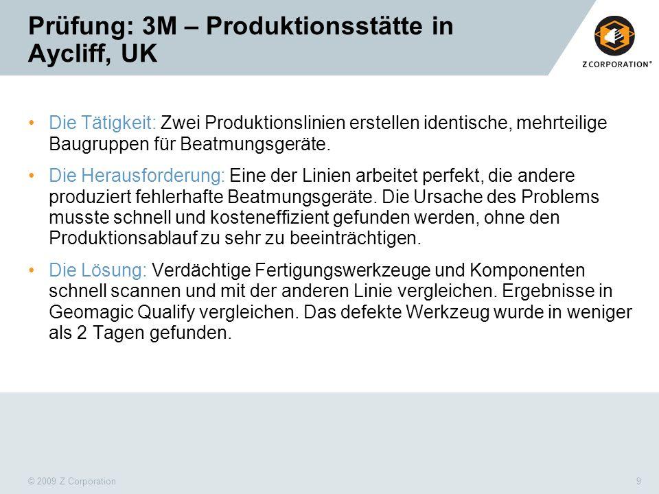 Prüfung: 3M – Produktionsstätte in Aycliff, UK
