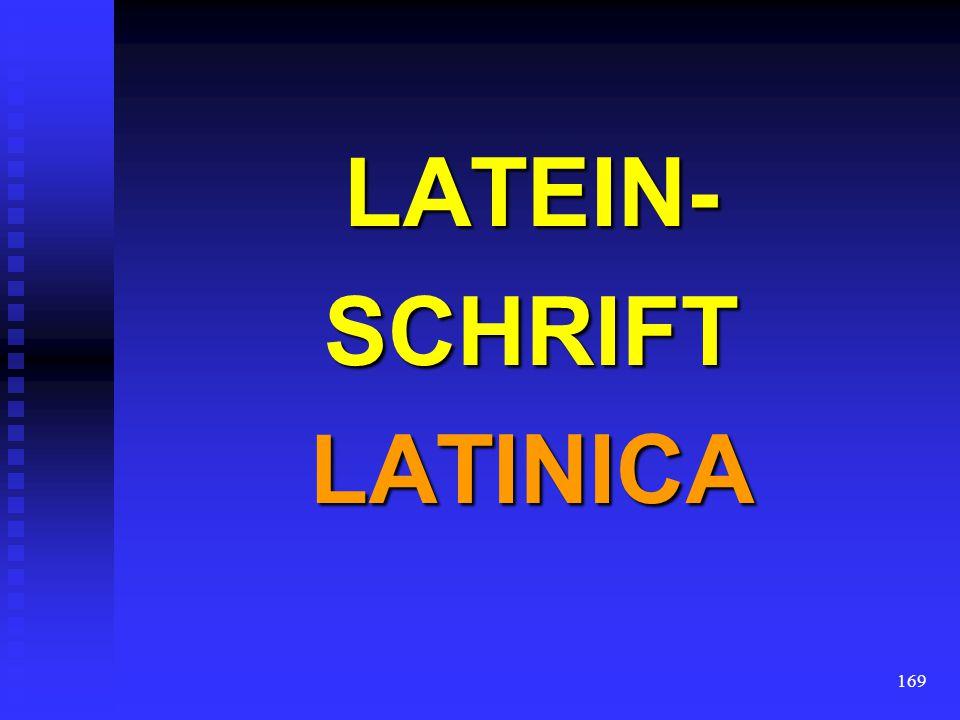 LATEIN- SCHRIFT LATINICA