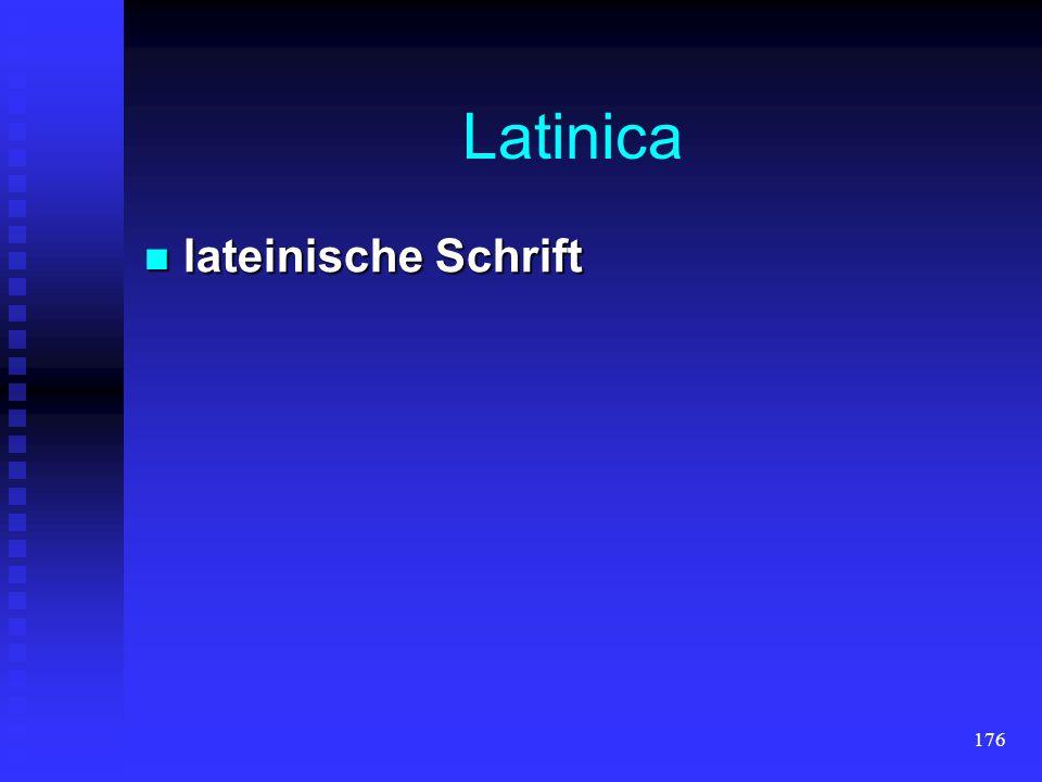 Latinica lateinische Schrift