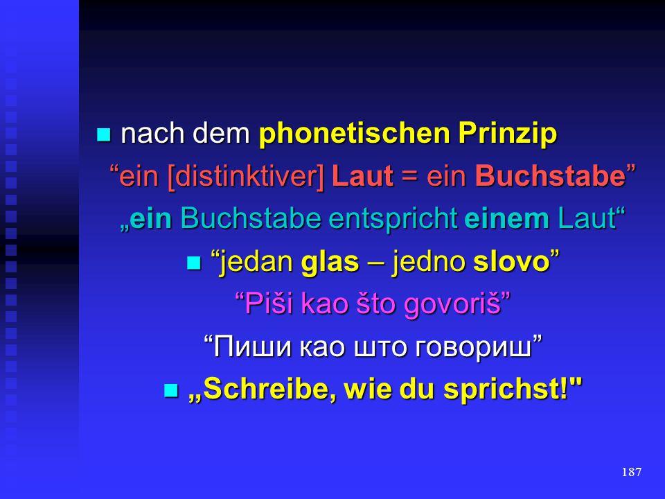 nach dem phonetischen Prinzip