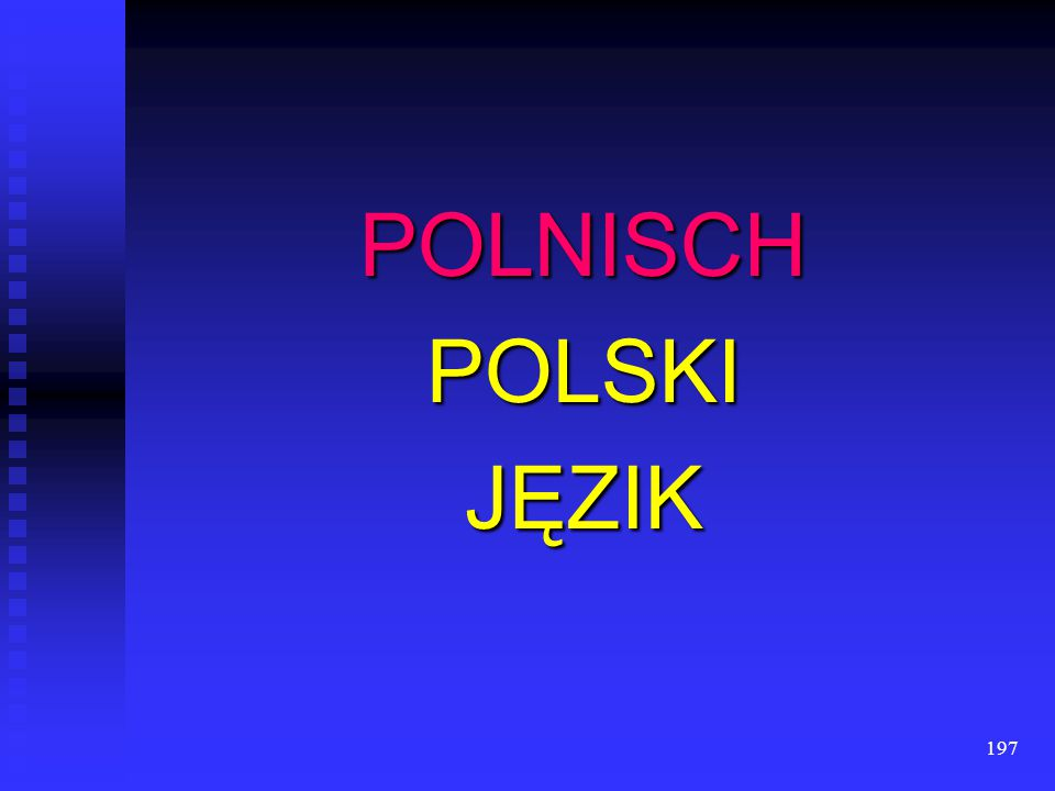 POLNISCH POLSKI JĘZIK
