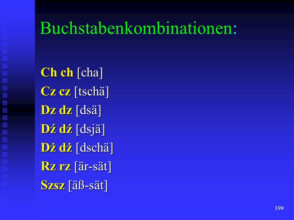 Buchstabenkombinationen: