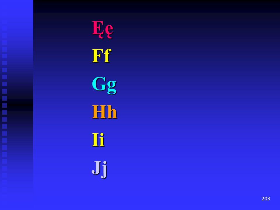 Ęę Ff Gg Hh Ii Jj