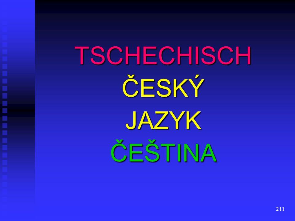 TSCHECHISCH ČESKÝ JAZYK ČEŠTINA