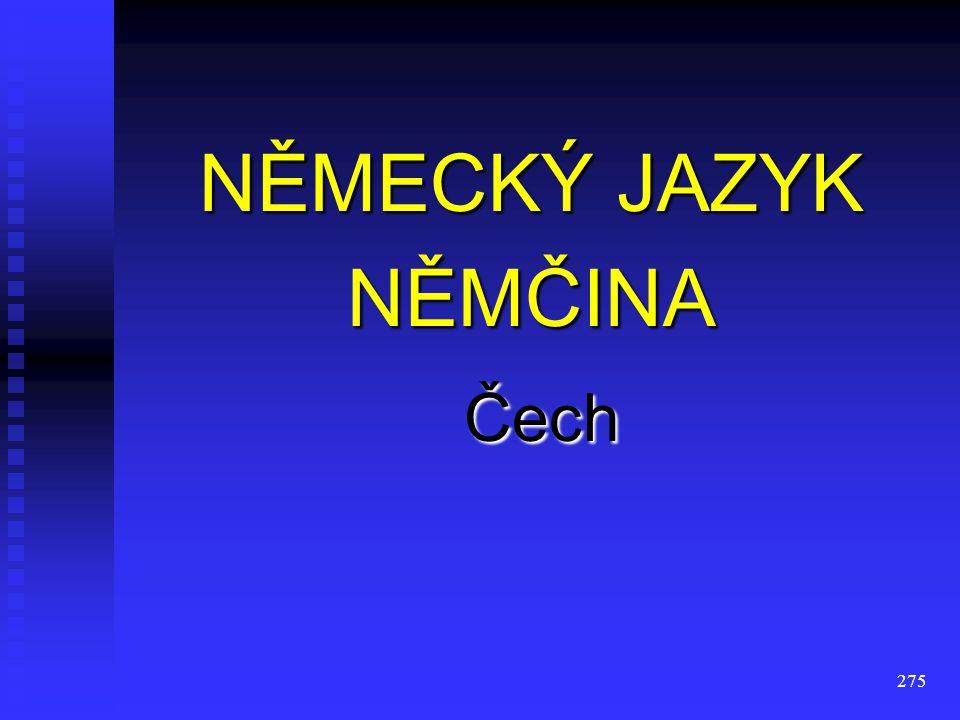 NĚMECKÝ JAZYK NĚMČINA Čech