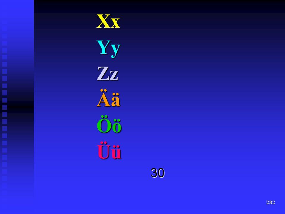 Xx Yy Zz Ää Öö Üü 30