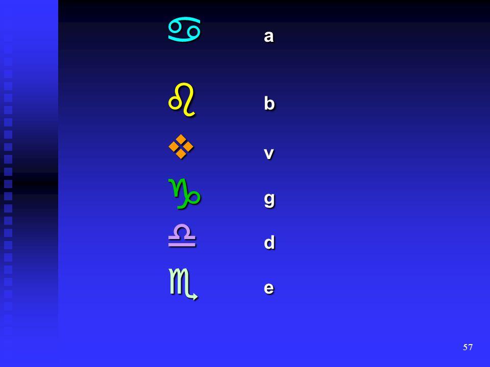  a  b  v  g  d  e