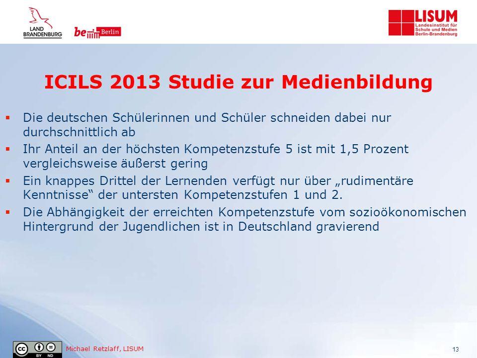 ICILS 2013 Studie zur Medienbildung