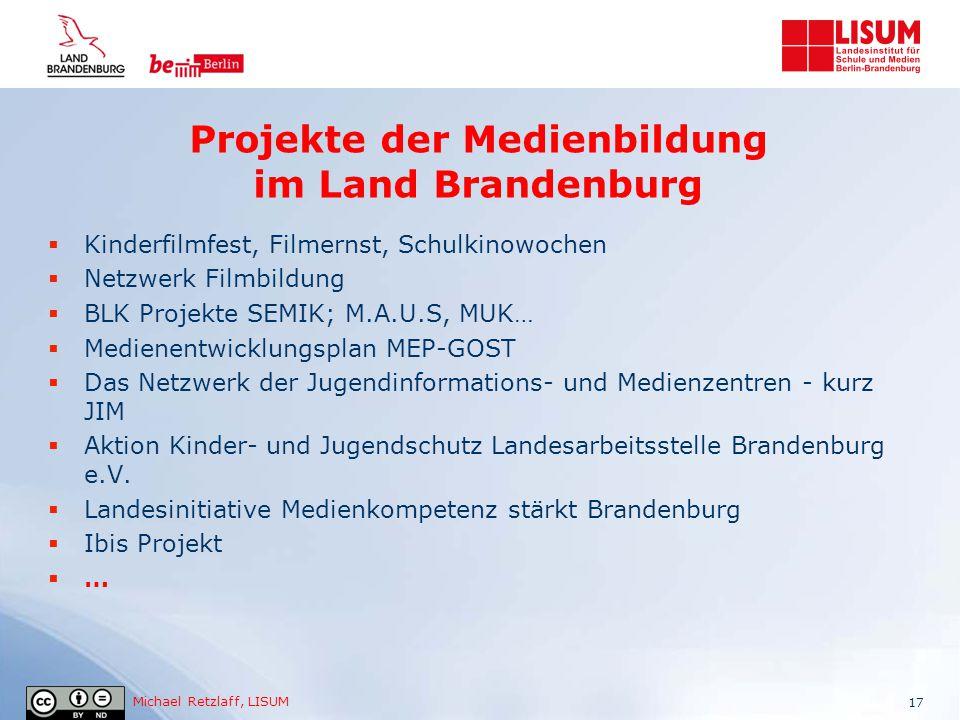 Projekte der Medienbildung im Land Brandenburg