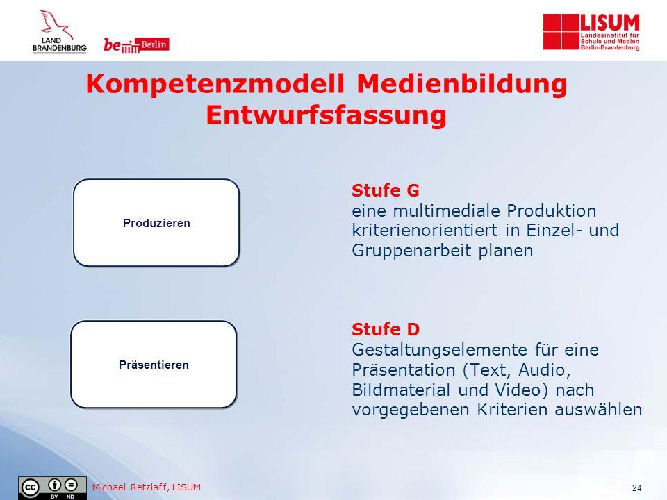 Kompetenzmodell Medienbildung Entwurfsfassung