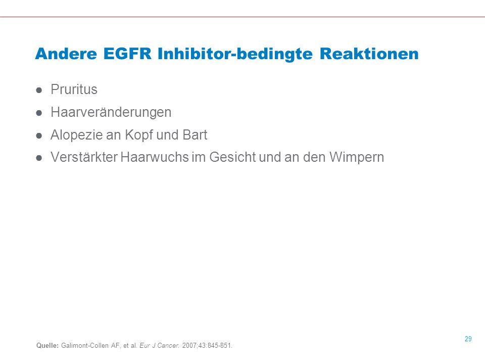 Andere EGFR Inhibitor-bedingte Reaktionen