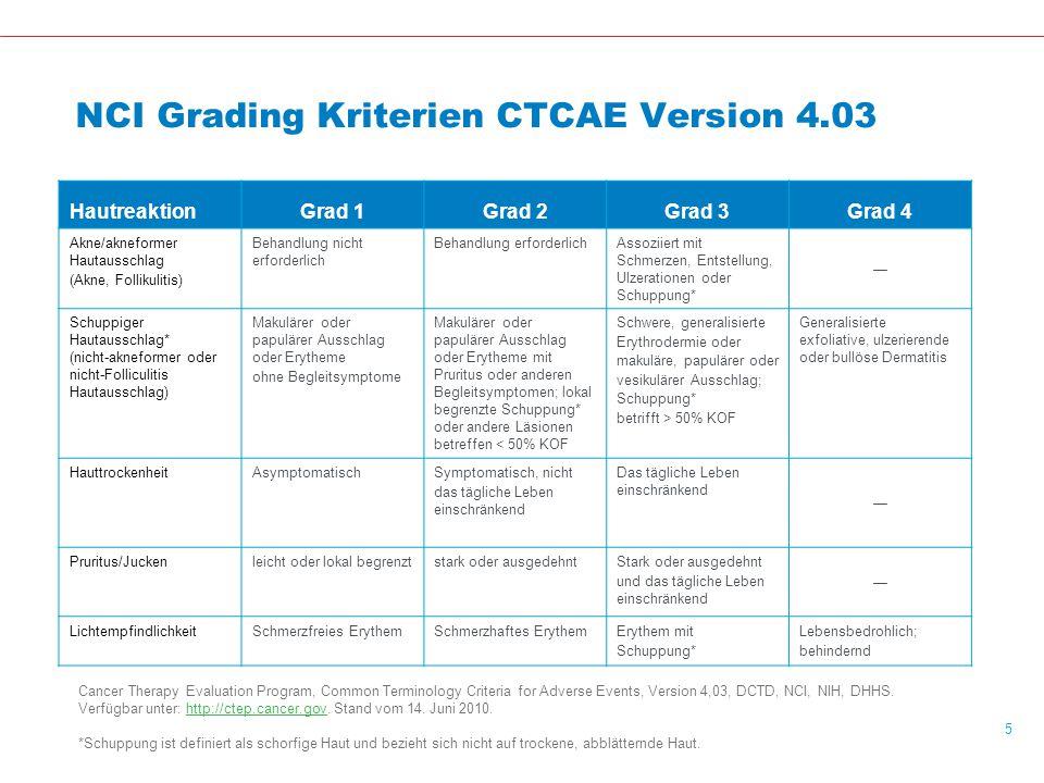NCI Grading Kriterien CTCAE Version 4.03