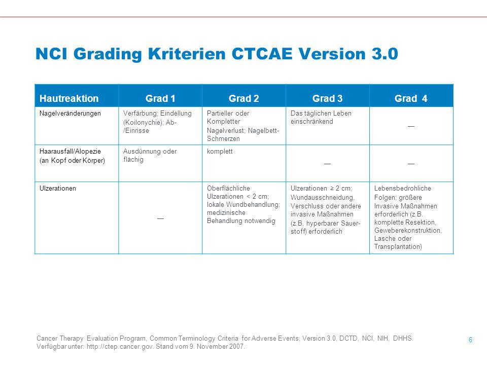 NCI Grading Kriterien CTCAE Version 3.0