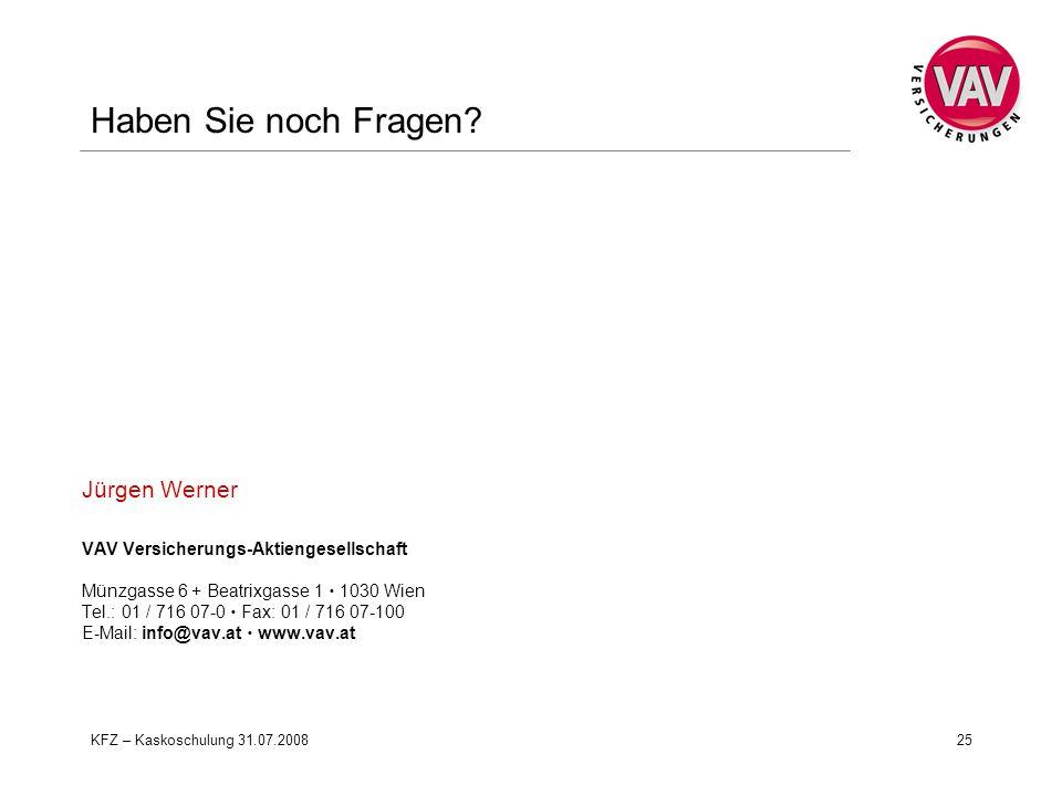 Haben Sie noch Fragen Jürgen Werner