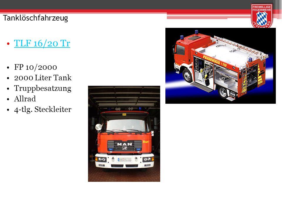 TLF 16/20 Tr Tanklöschfahrzeug FP 10/2000 2000 Liter Tank